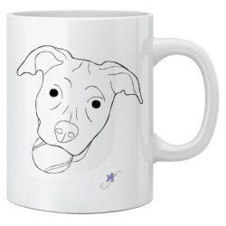 Dog with a ball two-sided coffee mug.