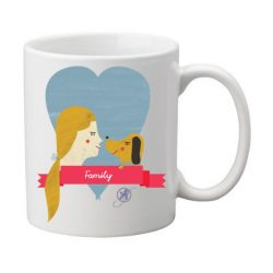 Family coffee mug for a dog lover